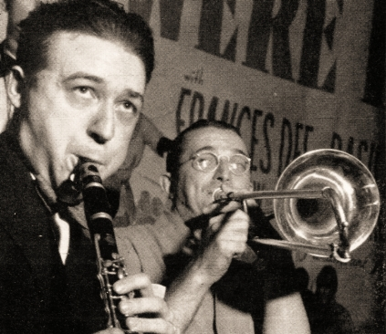 Hugues Panassie and Tommy Dorsey